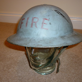 WW11 Civilian Fire brigade steel helmet
