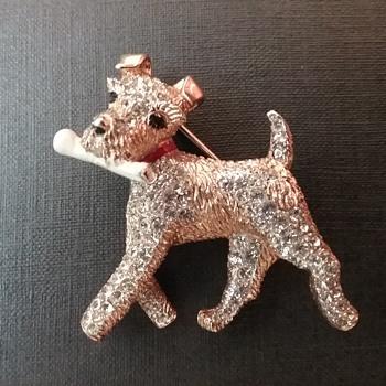 Marcel Boucher dog brooch  - Animals