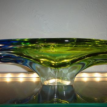 Seguso Vetri d'Arte Uranium Bowl 195o's - Art Glass