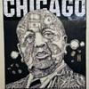Vintage Chicago Mayor Daley early 1970's Original Illustration by Gary Viskupic