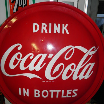 Fiberglass Coca-cola Button sign - questions? - Coca-Cola