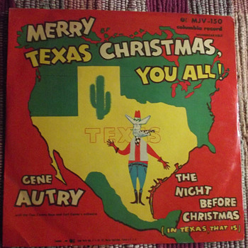 Merry Texas Christmas You All, Gene Autry, 78 RPM - Records