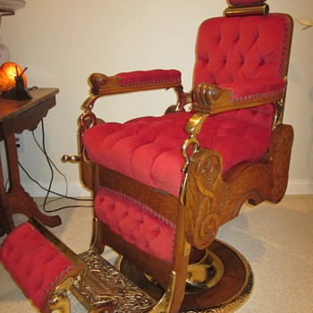 Antique Koken Congress Hydraulic Barber Chair Circa 1910 - Furniture
