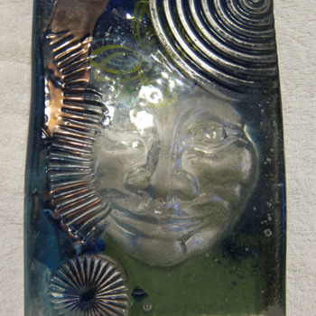 Phoenix Studio - Art Glass Block With Face