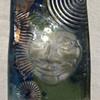Phoenix Studio - Art Glass Block With Face