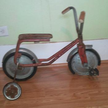 vintage front pedal bike