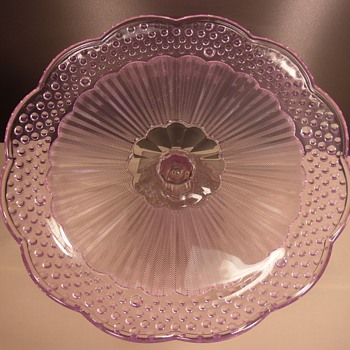 "Gorham - Footed Cake Stand - Emily's Attic - Pink - 13 1/2"" - Glassware"