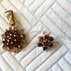 14ct Gold Ruby Pendant & Earring/brooch Hallmarked Birmingham 1978 LW