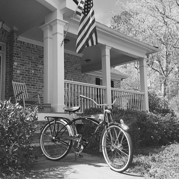 1949 and its Mom, Apple pie, 4th of July and a 1995 Centennial Schwinn Black Phantom built from original tooling - Sporting Goods