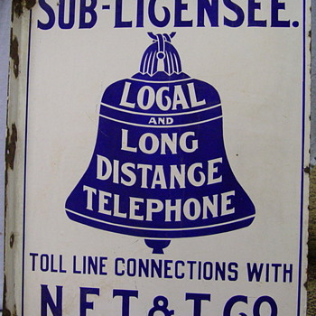New England Telephone & Telegraph Sub-Licensee Sign - Telephones