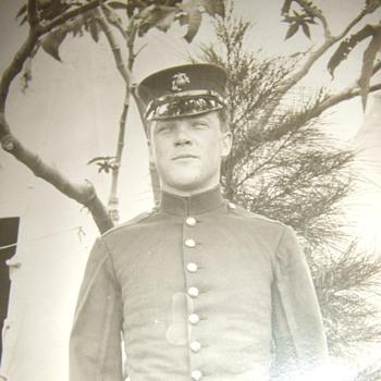 Early USMC in dress uniform