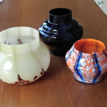 The more you have the more you wonder about export Czech glass - more jars. - Art Glass