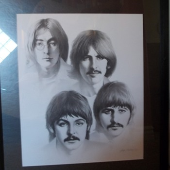 Beatles Black and White 20x24