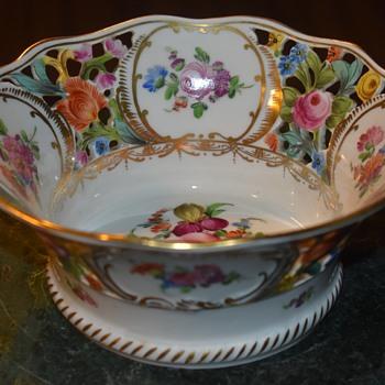 Dresden Porcelain Openwork Basket - Pottery