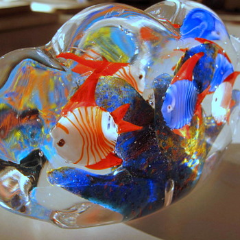 My old Murano Fish Aquarium haha so much like Ricks right? - Art Glass
