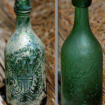 ++++Two Different Pontiled Eagle Soda Bottles++++