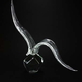 LICIO ZANETTI MURANO STYLIZED BIRD - Art Glass