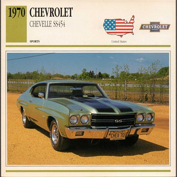 Vintage Car Card - Chevrolet Chevelle SS - Classic Cars