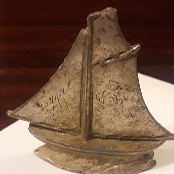 Metal sail boat - Toys