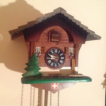1980's Swiss Regula chalet cuckoo clock. - Clocks