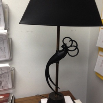 Rooster or Peacock lamp
