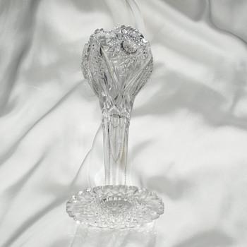American Brilliant Cut Chalice Vase(?) - Glassware