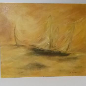Sailboat Abstract B De Witt - Fine Art