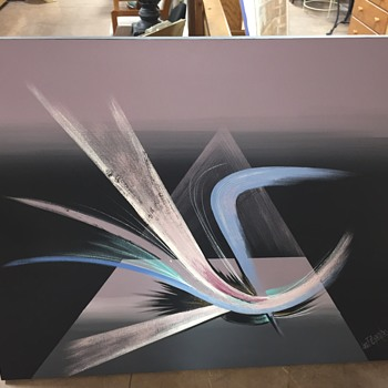 Very Large Lee Reynolds Abstract Painting - Fine Art