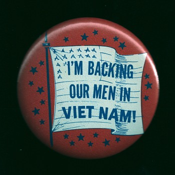 I'm backing our men in Viet nam 1965