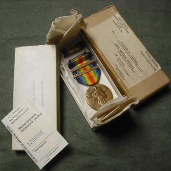 ID'd US WWI Victory Medal - Military and Wartime