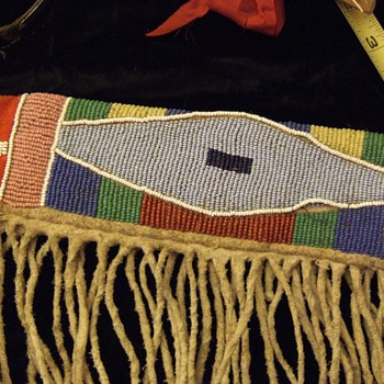 Beaded Original Rifle case from Buffalo hide WOW - Native American