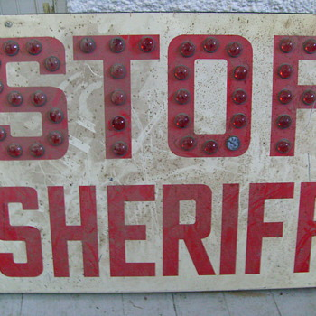 Sheriff Stop sign - Signs