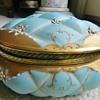 Antique Porcelain Jewellry Box - Raised Pillowy Pattern