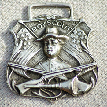Vintage Sterling Silver Boy Scout Watch Fob - Pocket Watches