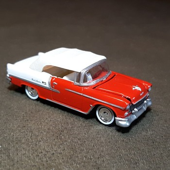 Night of the Tri Chevy Johnny Lightning 1955 Chevrolet Bel Air - Model Cars