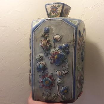Old primitive floral - Pottery