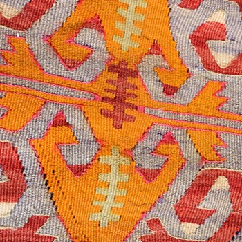 Old Kilim Fabric Pillow - Rugs and Textiles