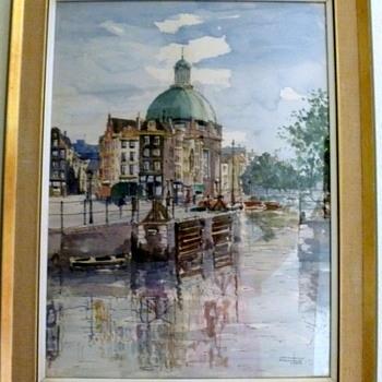 Watercolor by Jan Den Hengst - Fine Art