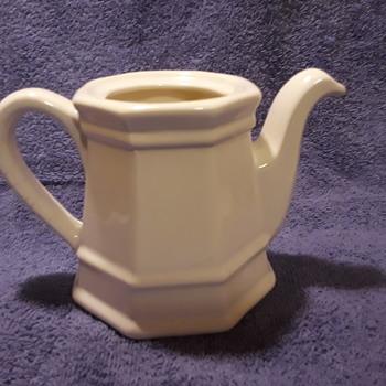 little white ceramic pitcher - China and Dinnerware