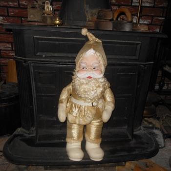 Gold Rushton Santa Doll King of the Rushton Santas - Christmas