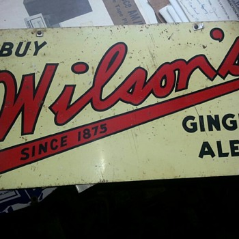 Wilson's Ginger Ales - Advertising