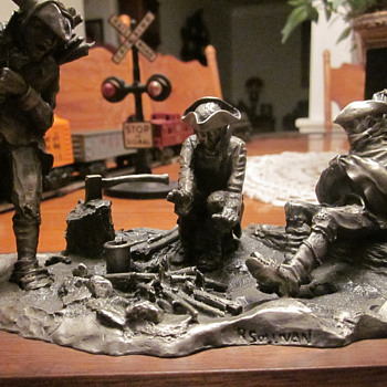 Vintage  Pewter Sculptures - Military and Wartime