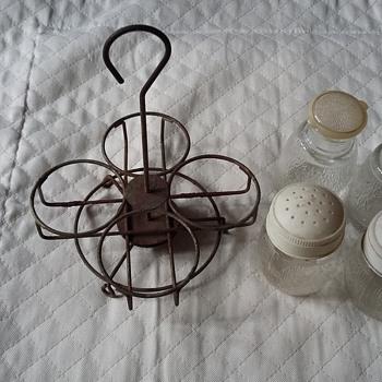Condiment Set in Lazy Susan Holder