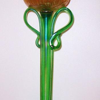 Loetz Candia Rusticana Tulip Vase c.1900.