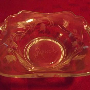 cambridge glass sample - Glassware