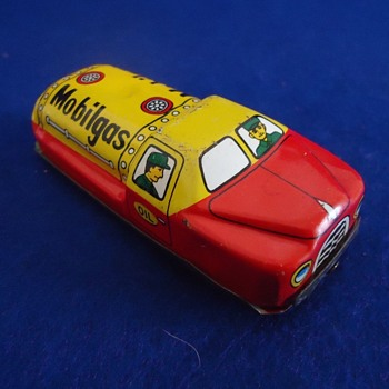 1950's Japan Friction Mobil Gas toy - Toys