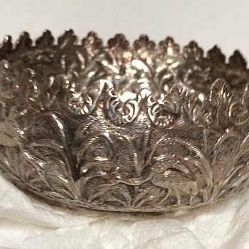 Small silver bird bowl - Silver