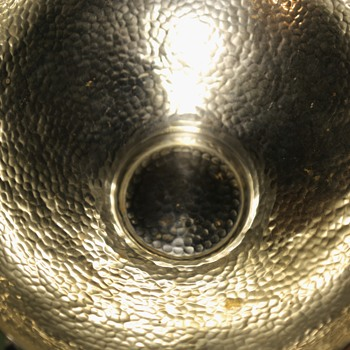 Unmarked Large, Raised Silver Bowl