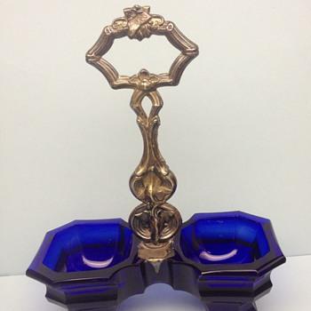 Cobalt double salt - Glassware
