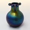 """Small antropomorphic """"Bronze"""" vase, Thomas Webb and Sons (Chirstopher Dresser attr., ca. 1878)"""